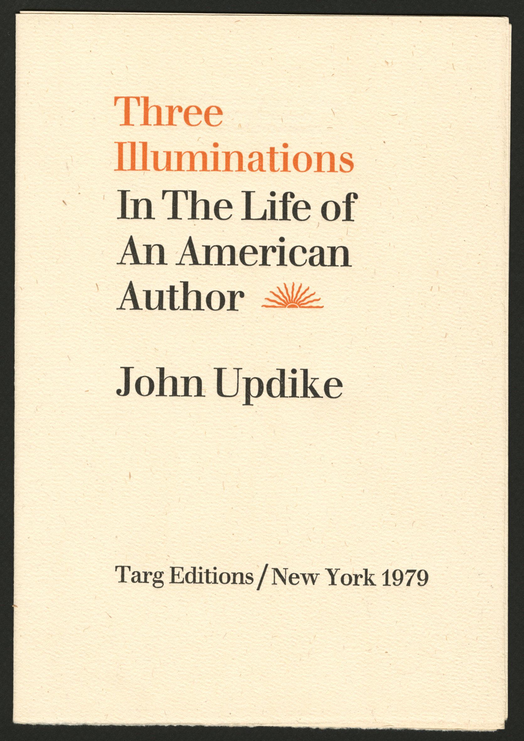 Title page of John Updike,