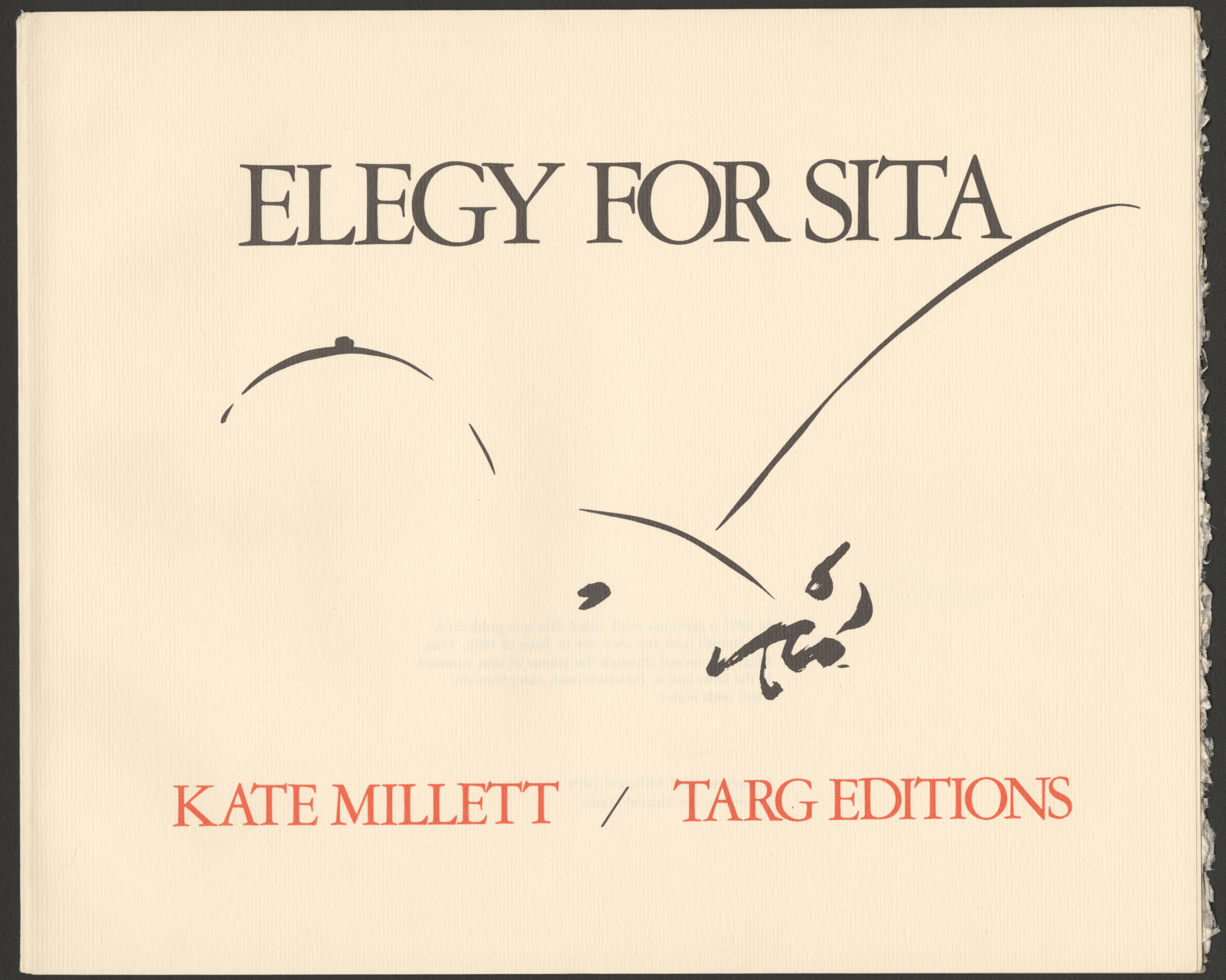 Elegy for Sita Title Page
