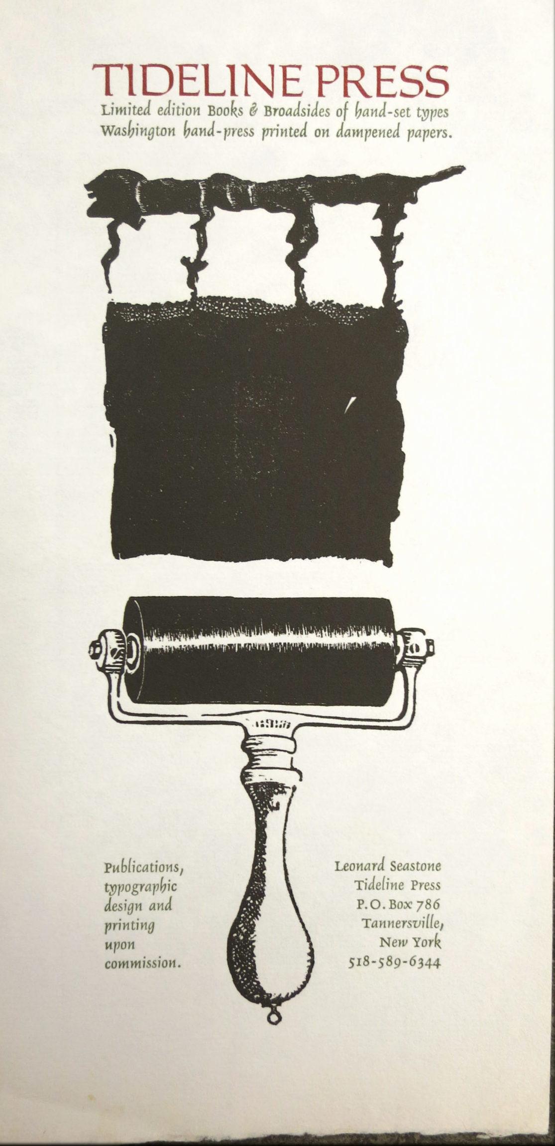 Tideline Press printer's ink roller